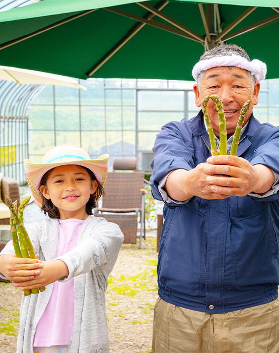 Experience growing asparagus fields