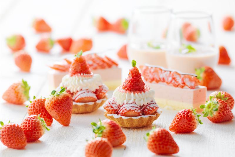 5月はストロベリーフェアを開催。北海道産のイチゴがたっぷり