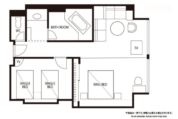 Guest room map
