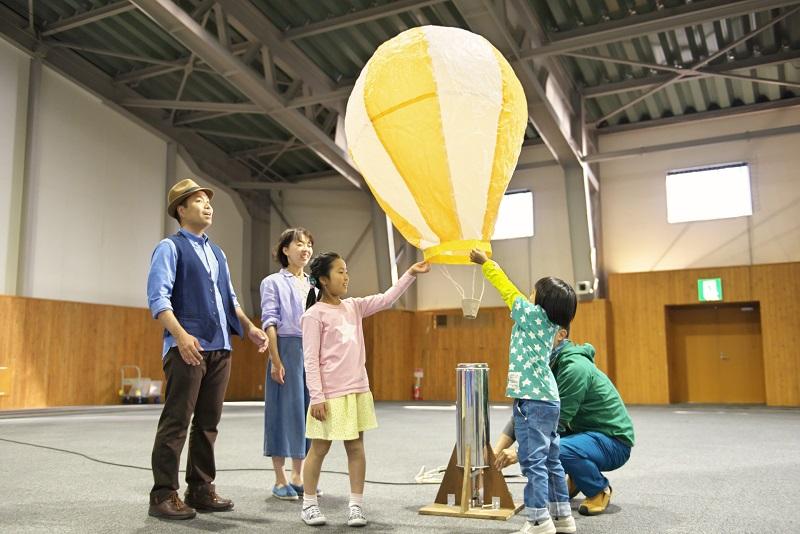 手作り熱気球作成体験