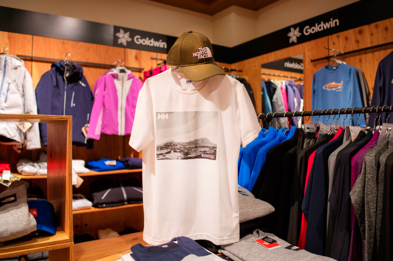 Original The North Face and Helly Hansen goods exclusive to Rusutsu