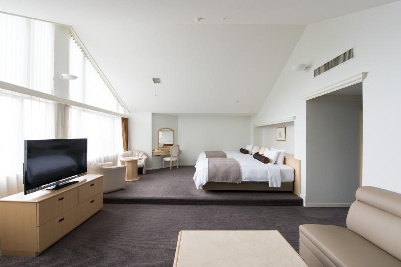 全7室。66㎡、広い空間と快適な寝具でワンランク上の滞在を