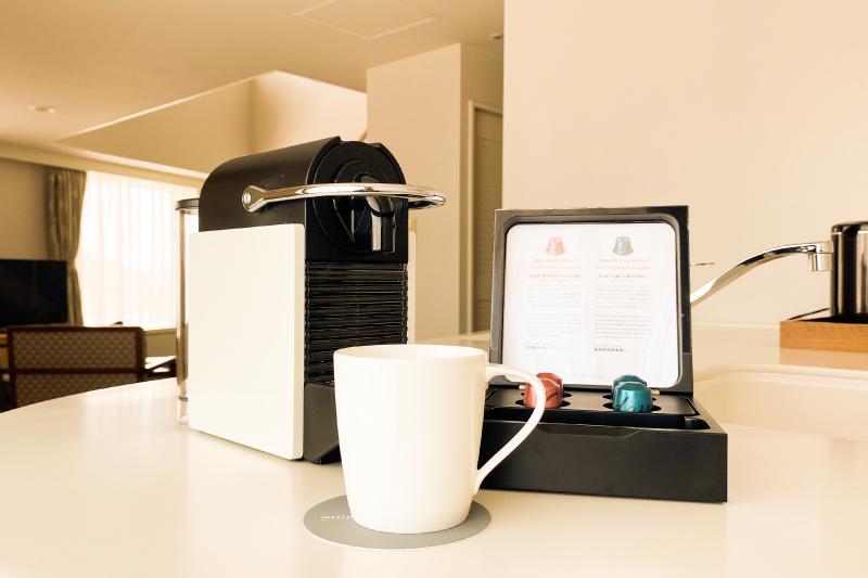 全客室にネスプレッソマシンをご用意。お部屋でカフェタイムを