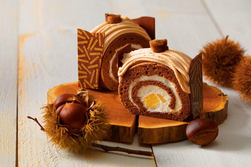 9月 [栗とカボチャの秋フェア] モンブランロールケーキ