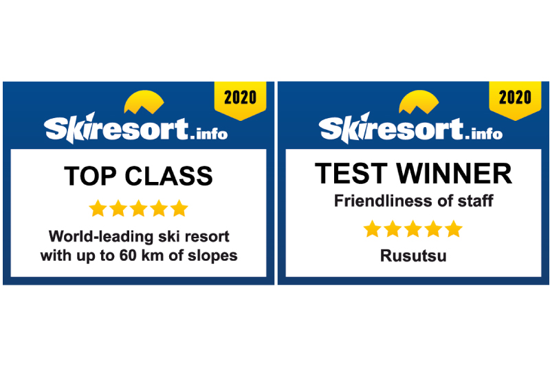 Rusutsu Resort has been chosen as Top class of World-leading ski resorts by