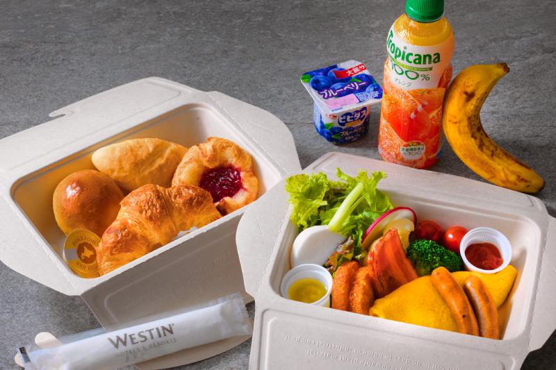 朝食はテイクアウトBOXもご利用いただけます。