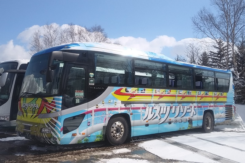 Rusutsu's free shuttle bus service departs from central Sapporo and is ideal for a winter 1-day trip.