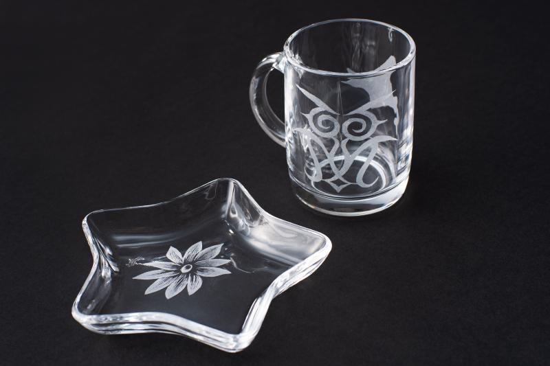 手彫りガラス (グラスリッツェン)