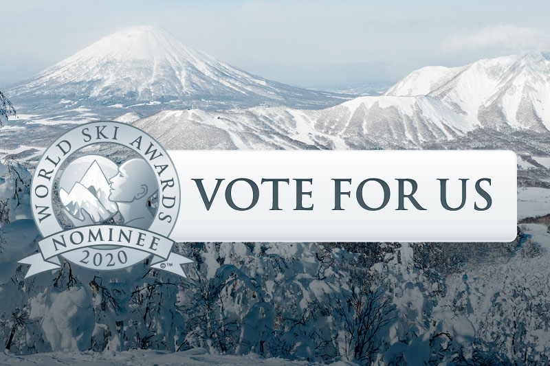 [World Ski Award 2020] Rusutsu Resort and Westin Rusutsu are nominated. The online voting has just started